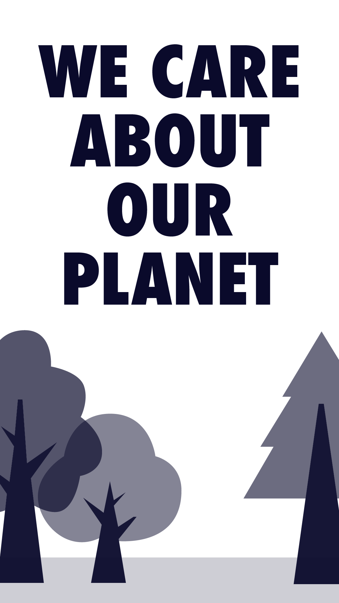 planting trees and caring for the planet