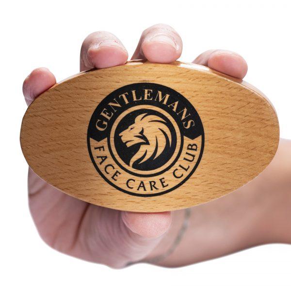 GFCC Vegan Friendly Beard Brush - Logo On Base - Gentlemans Face Care Club