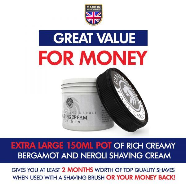 Bergamot and Neroli Shave Cream Pot With Lid On Side