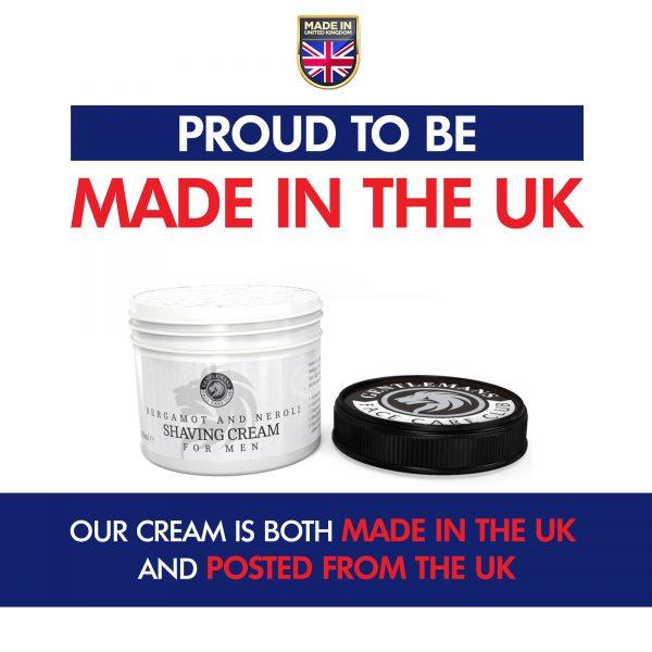 GFCC Bergamot and Neroli Shave Cream Pot With Lid
