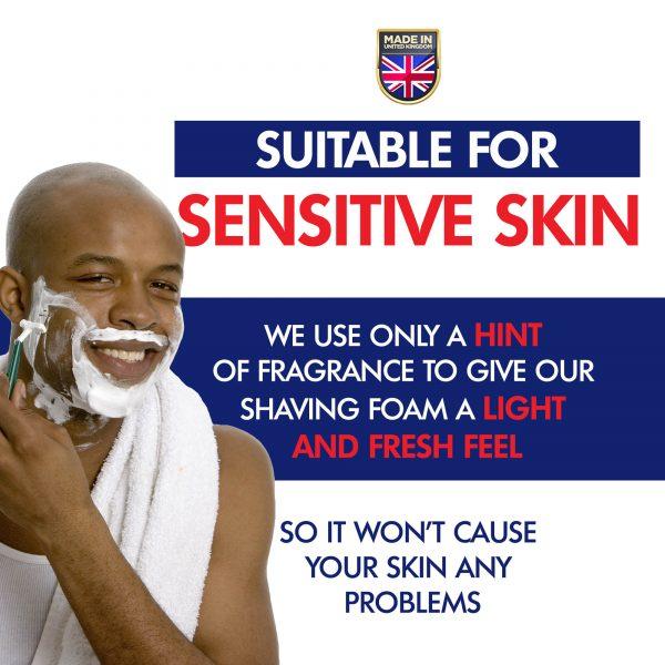 Lime shaving cream for sensitive skin