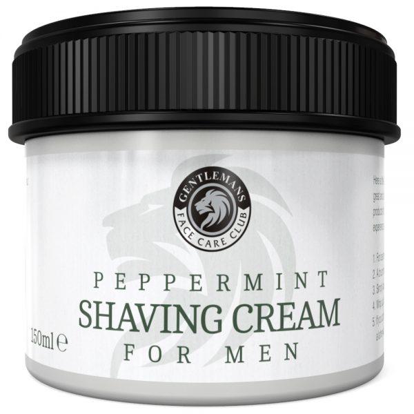 GFCC Peppermint Shaving Cream - Gentlemans Face Care Club