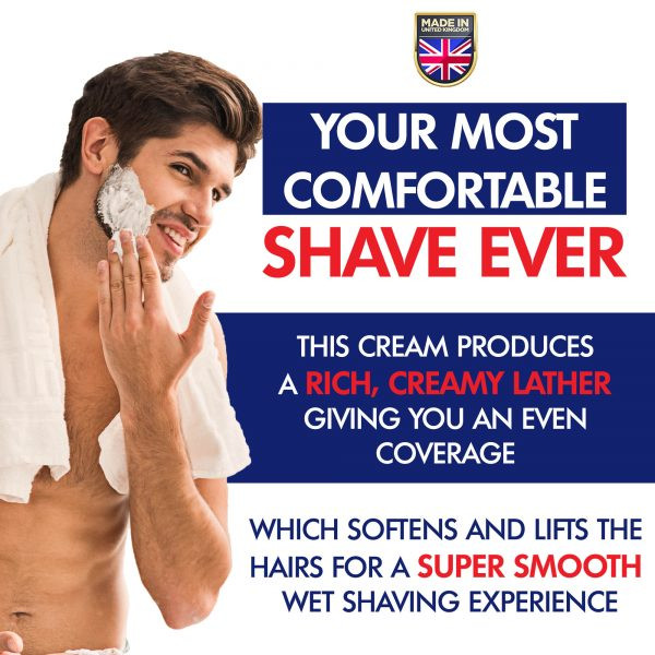 GFCC Peppermint Shaving Cream - Man Applying Cream To Face Before Shaving