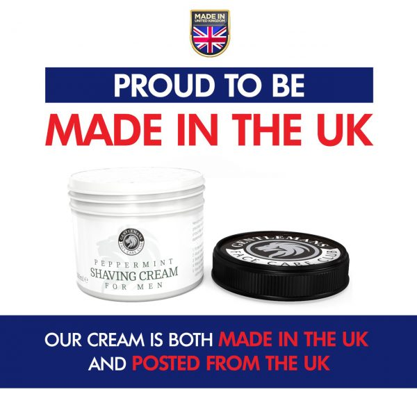 Gentlemans Face Care Club Peppermint Shaving Cream - Made In The UK