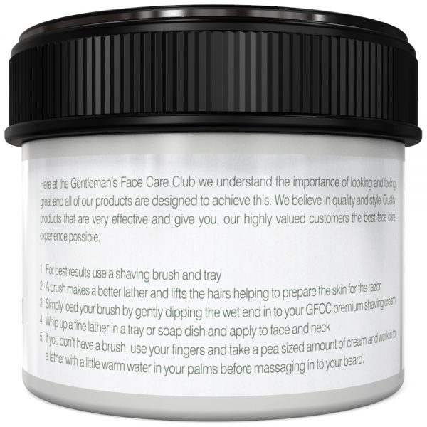 GFCC Shave Cream Peppermint - Back Of Pot