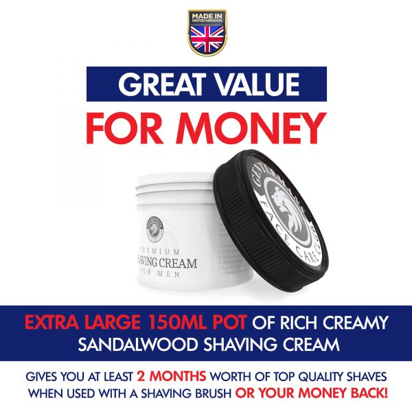 GFCC Bergamot And Neroli Shaving Cream - Lid On Side Of Pot