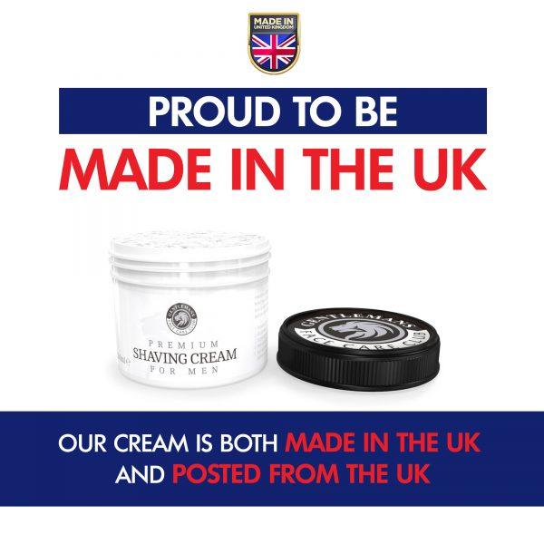 GFCC Sandalwood Shaving Cream Lid Off Pot - Gentlemans Face Care Club