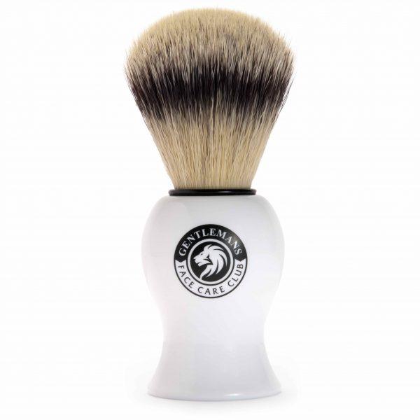 Vegan Friendly Shaving Brush Front View - Gentlemans Face Care Club