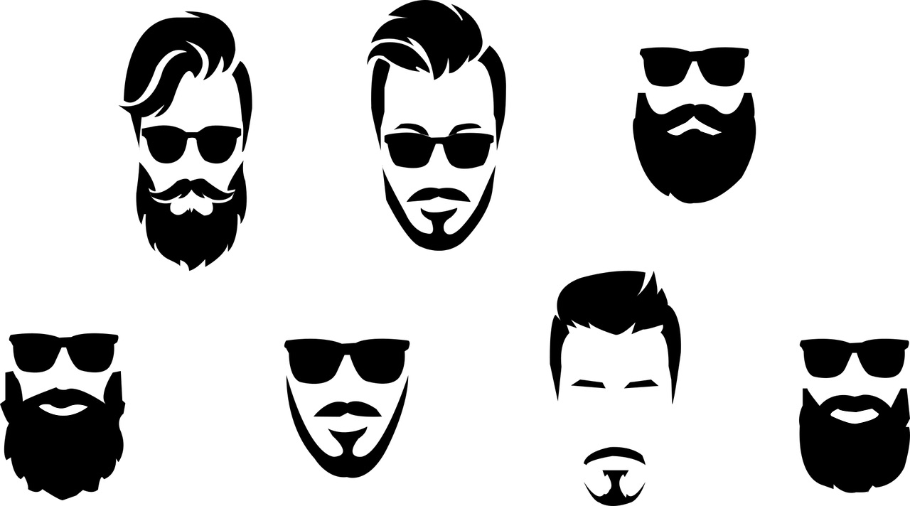 Collection of popular beard styles