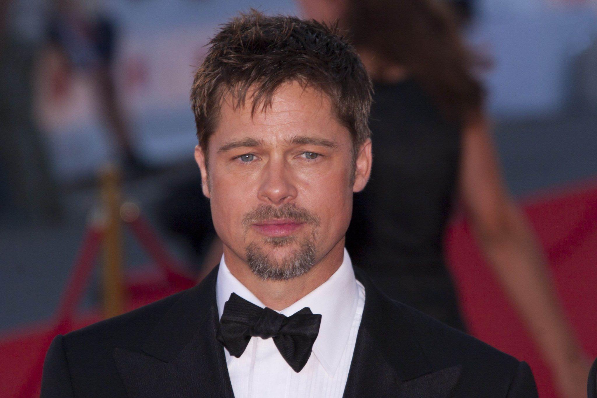 Brad Pitt has often had a beard in his film roles - here he sports a well kept goatee beard