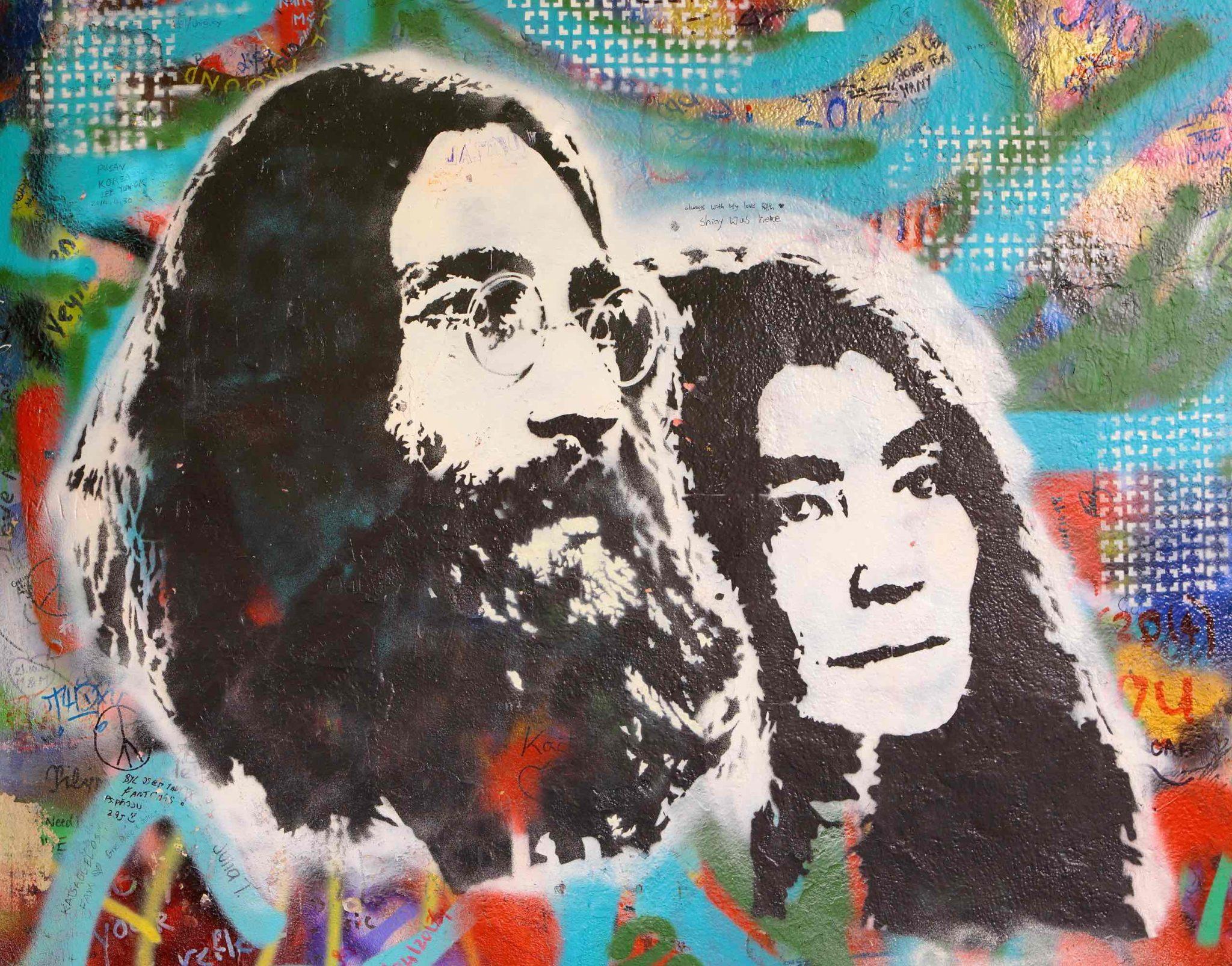 John Lennon had a long straggly beard in the 70's