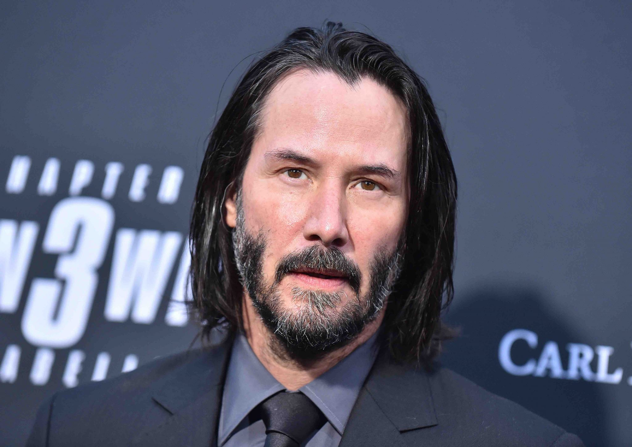 Keanu Reeves has of the most famous celebrity beards in his recent film work